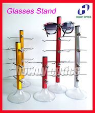 CD001 Free Shipping 5pcs/lot Aluminium Glasses Eyeglasses Sunglasses Display Rack Holder Stand Hold 3pcs,4pcs,5pcs of Glasses(China (Mainland))