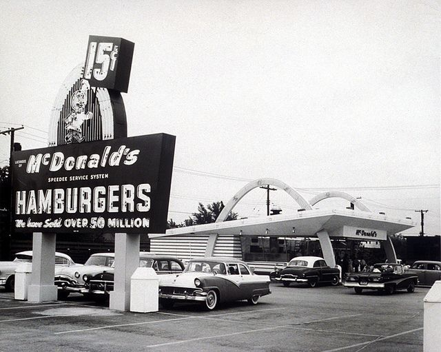 "McDonalds - The business began in 1940, with a restaurant opened by brothers Richard and Maurice McDonald in San Bernardino, California. Their introduction of the ""Speedee Service System"" in 1948 established the principles of the modern fast-food restaurant."