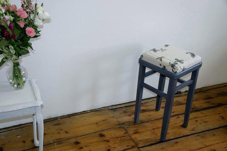 Old Violet floral chair £20