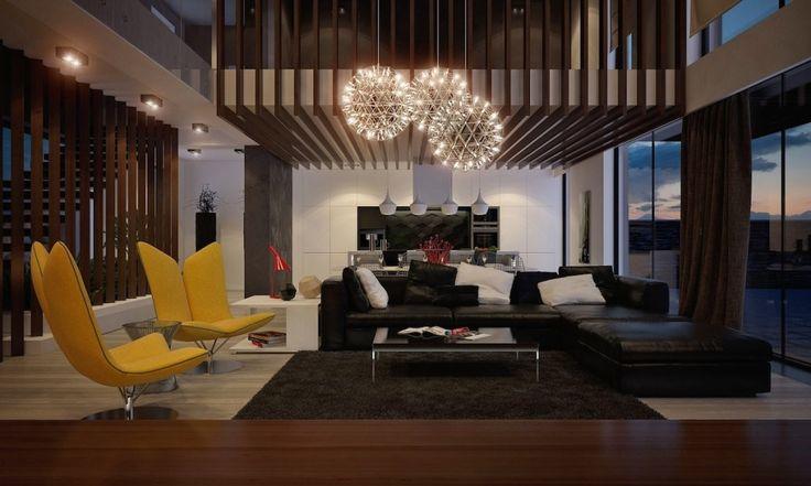 Дизайн уютных гостиных комнат - Освещение