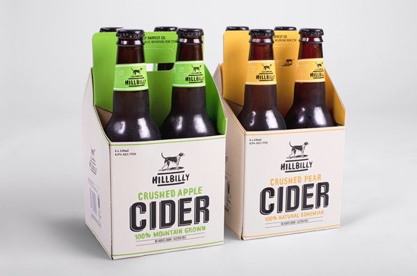 Hillbilly Cider / by Dave Rhodes, via Behance