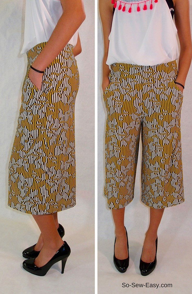 Culottes tutorial for summer time glamour (So Sew Easy)