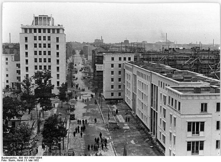 Hermann Henselmann, Hochhaus an der Weberwiese, 1951-52, Baustelle 1952