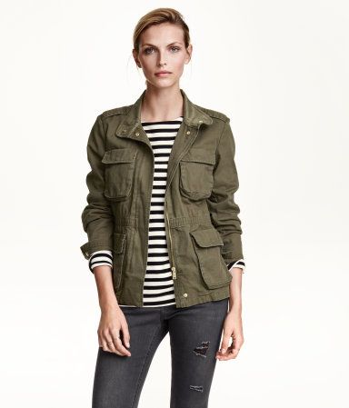 This shade of green is pretty much my favorite color ever.  And I really like cargo jackets.  I need to get one of my own.