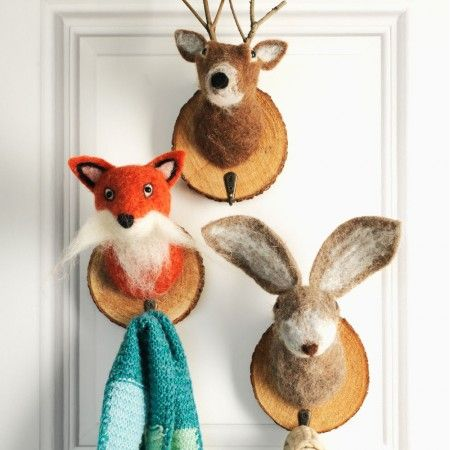 Felt Animal Trophy Hooks