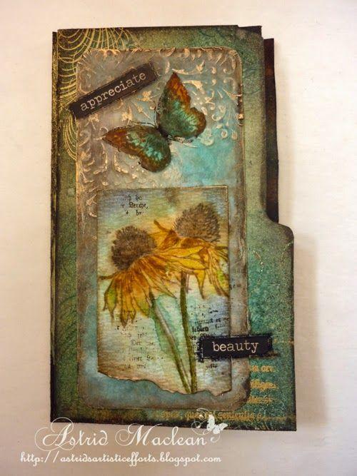 Astrid's Artistic Efforts: Altered file folder part 1