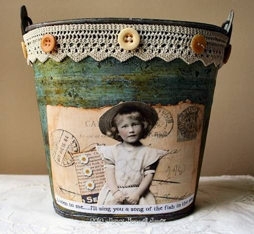 altered tin can by paper whimsy