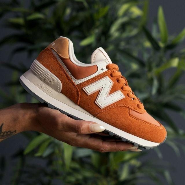 New Balance 574 Orange Suede   Adidas shoes women, Champion shoes ...