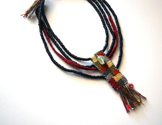 Collier tissé à la main / bijoux boho / mode par JewelryByFlorita