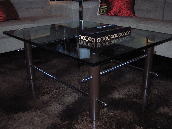 Forza Metal | Residential Coffee table with chromed bars  www.forzametal.com
