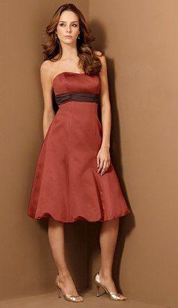 Burnt orange bridesmaid dress « Weddingbee Boards