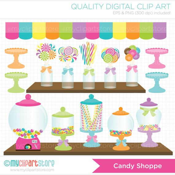 Candy Shoppe Clip Art / Digital Clipart - Instant Download