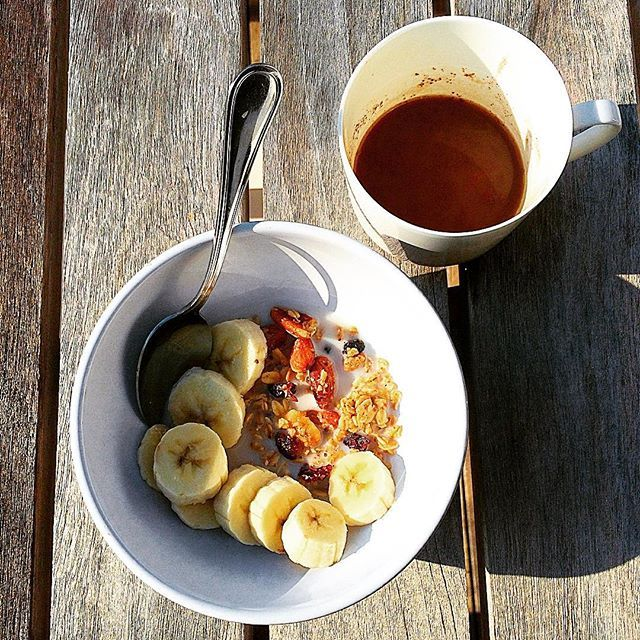 Pre-bike ride breakfast  // Granola, bananas + almond milk latte #breakfast #fuel #healthy #dineanddabble #goodmorning #glutenfre #dairyfree #oats #granola #nutrition #eeeeeeats #nycfooddiaries #newforkcity #foodie #healthyliving #eatclean #cleanfood #nycfoodgals #nycfoodie #foodporn #fitchicks #fitfoodie #healthyfoodie #healthyliving #fitness #mindbodygram #foodgram #yum #delicious #nom #vegan
