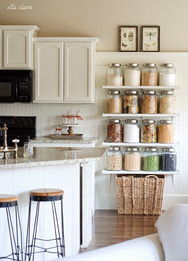 DIY Country Store Kitchen Shelves 70 best