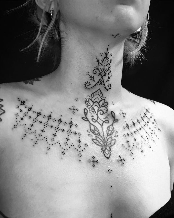 1001 Ideas For Beautiful Chest Tattoos For Women My Dream