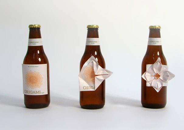 Origami Beer LabelBottle Labels, Clever Packaging, Packagingdesign, Packaging Design, Beer Bottle, Beer Labels, Origami Beer, Creative Packaging, Products Packaging