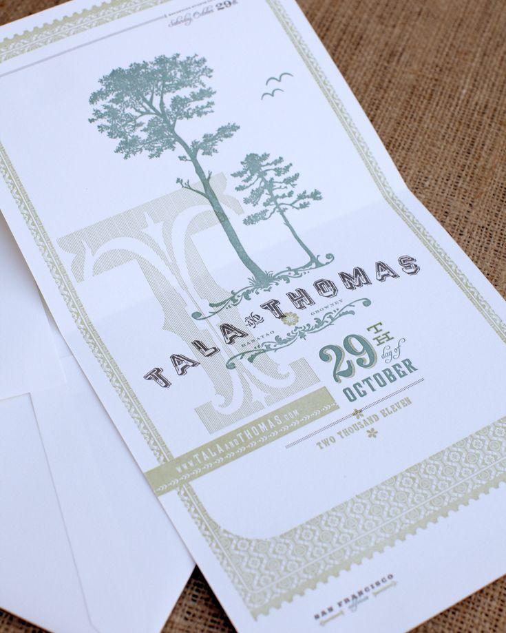 Martha Stewart Weddings :: Letterpress Poster Save the Date