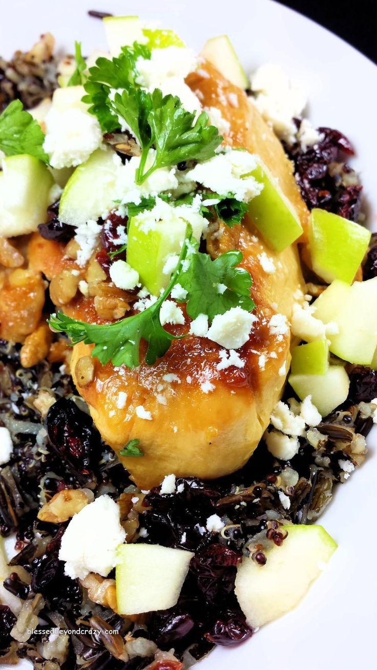 Cedar grilled lemon chicken (Applebee's copy cat recipe) w/ quinoa.