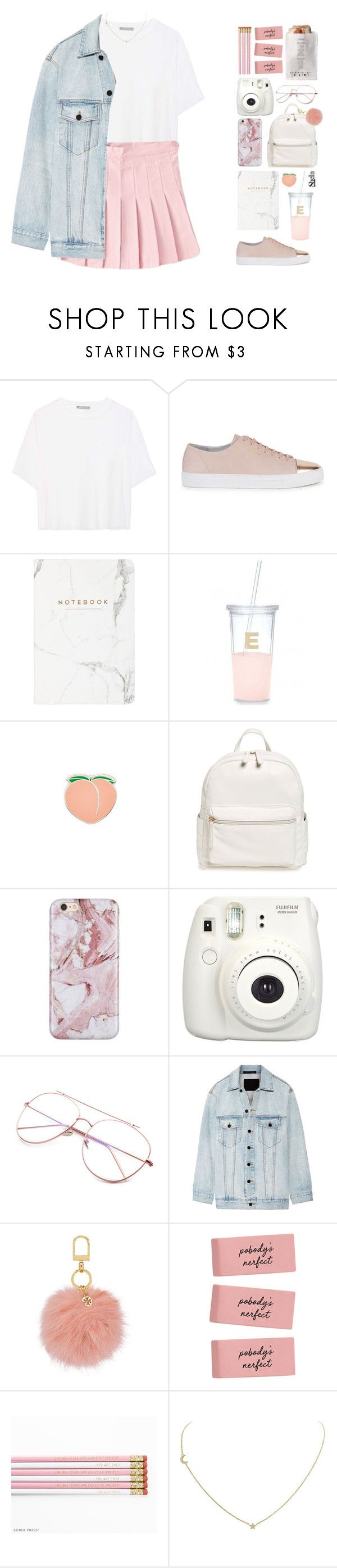 """A PINK EDUCATION (BtS look)"" by marianne-david-17 ❤ liked on Polyvore featuring Vince, Axel Arigato, Kate Spade, PINTRILL, BP., L'Agence, Fujifilm, Alexander Wang, Tory Burch and Humble Chic"