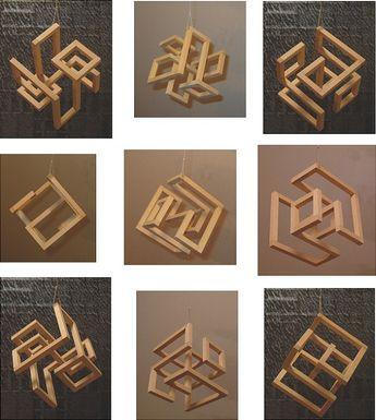 wooden sculpture   Cubic Sculpture 2