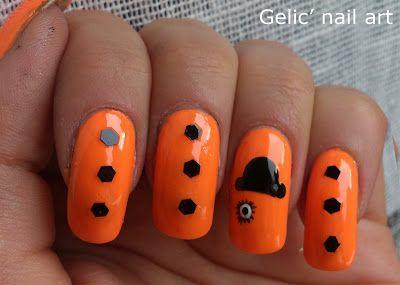 Gelic' nail art: 31DC2013 Day 23; A Clockwork Orange nail art