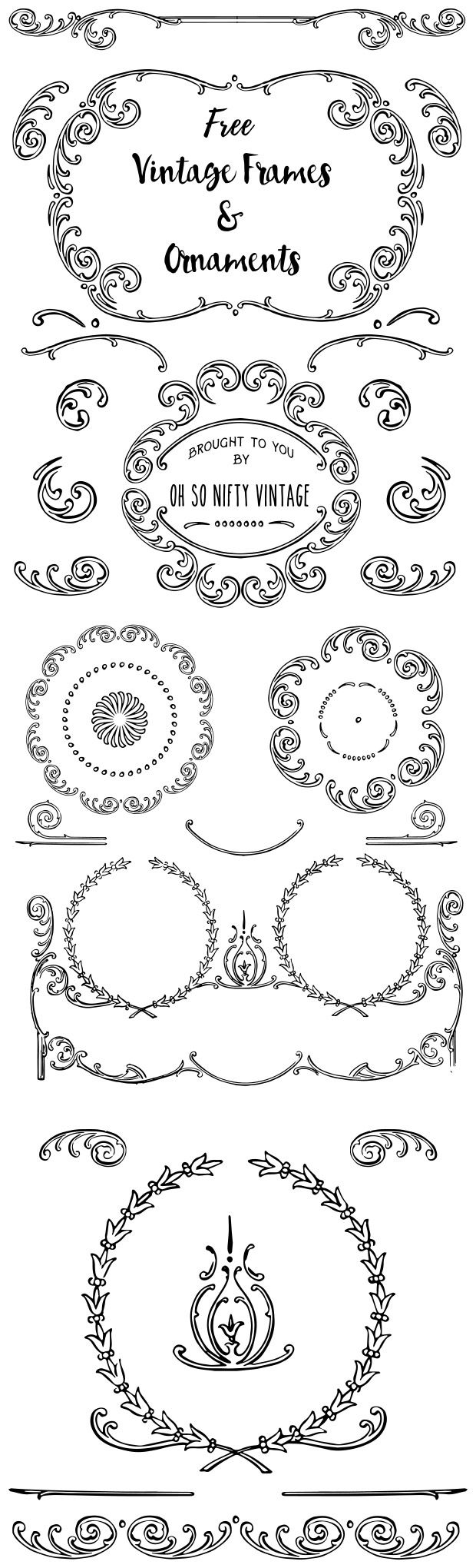 Stock Illustrations - Elegant Vintage Frames & Ornaments - http://vintagegraphics.ohsonifty.com/stock-illustrations-elegant-vintage-frames-ornaments/