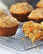 Peach and Coconut Muffins  - via Weighitup.com.au