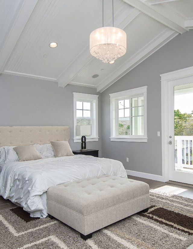 Luxury Bedroom. Vaulted ceiling, balcony for the master bedroom. Houzz.com