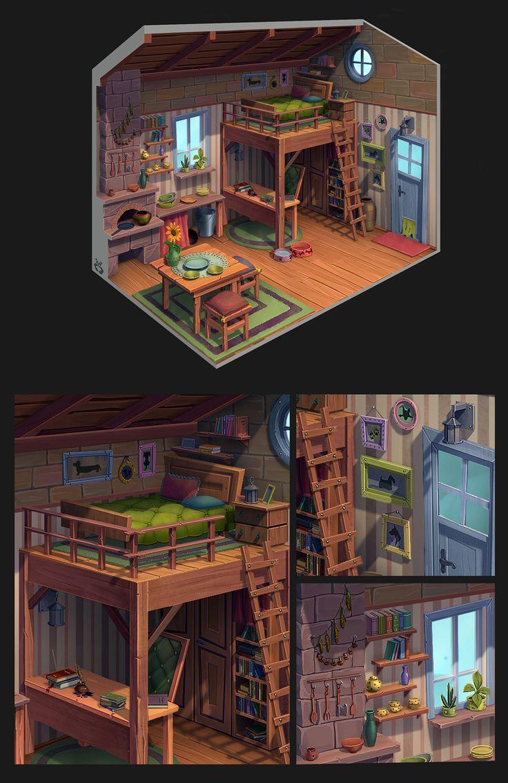 House interior on Behance