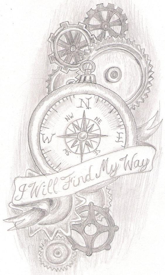 steampunk compass tattoo compass sleeve tattoo compass tattoo ideas ...