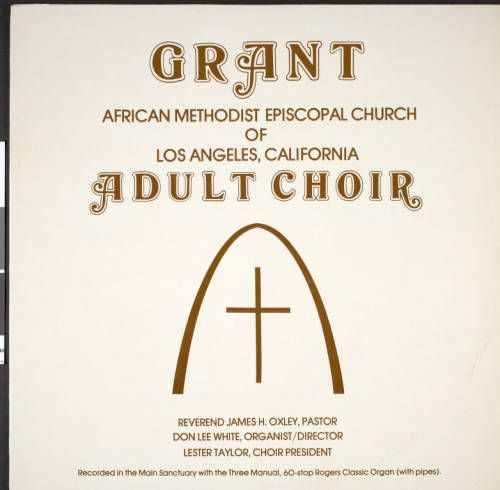 Adult choir (Grant African Methodist Episcopal church of Los Angeles, California), [s.d.], p. 1 :: Adult choir (Grant African Methodist Episcopal church of Los Angeles, California), [s.d.] :: Gospel Music History Archive. http://digitallibrary.usc.edu/cdm/ref/collection/p15799coll9/id/2176