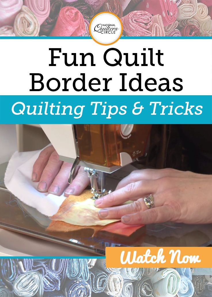 Heather Thomas presents some fun quilt border ideas as well as teaches you how to create a quilt border that isn't straight edged so that you don't have to do all the calculations and you can create unique edges that you'll be proud of. She shows a few different examples of her own work, and then demonstrates the quick and easy process for flip and sew bordering.