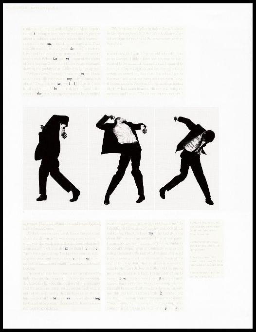 Natalie Czech, A poem by repetition by Allen Ginsberg (Detail), 2013 3 C-Prints, 3 Rahmen, Museumsglas, 114 x 87,3 cm, 140,1 x 72,7 cm, 140,1 x 83,9 cm