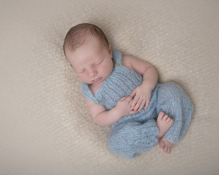Newborn boy in mohair all in one in studio in uckfield with judith stewart photography