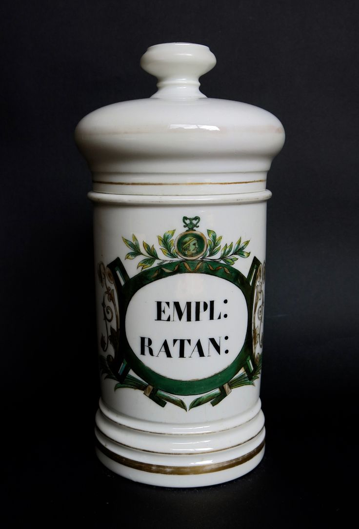 Antique porcelain apothecary jars