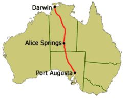 Stuart Highway, would love to drive from Darwin to Alice Springs.