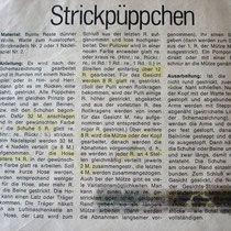Strick-Püppchen à la BRIGITTE