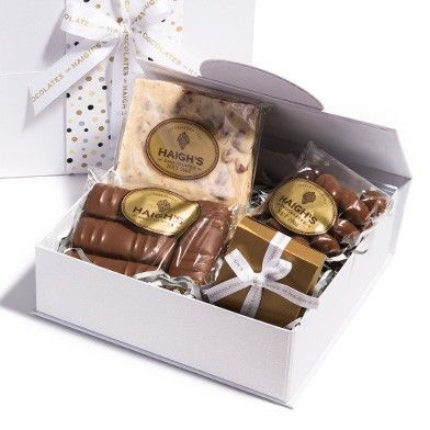 Small White Hamper Box - really spoil Mum this Mother's Day.