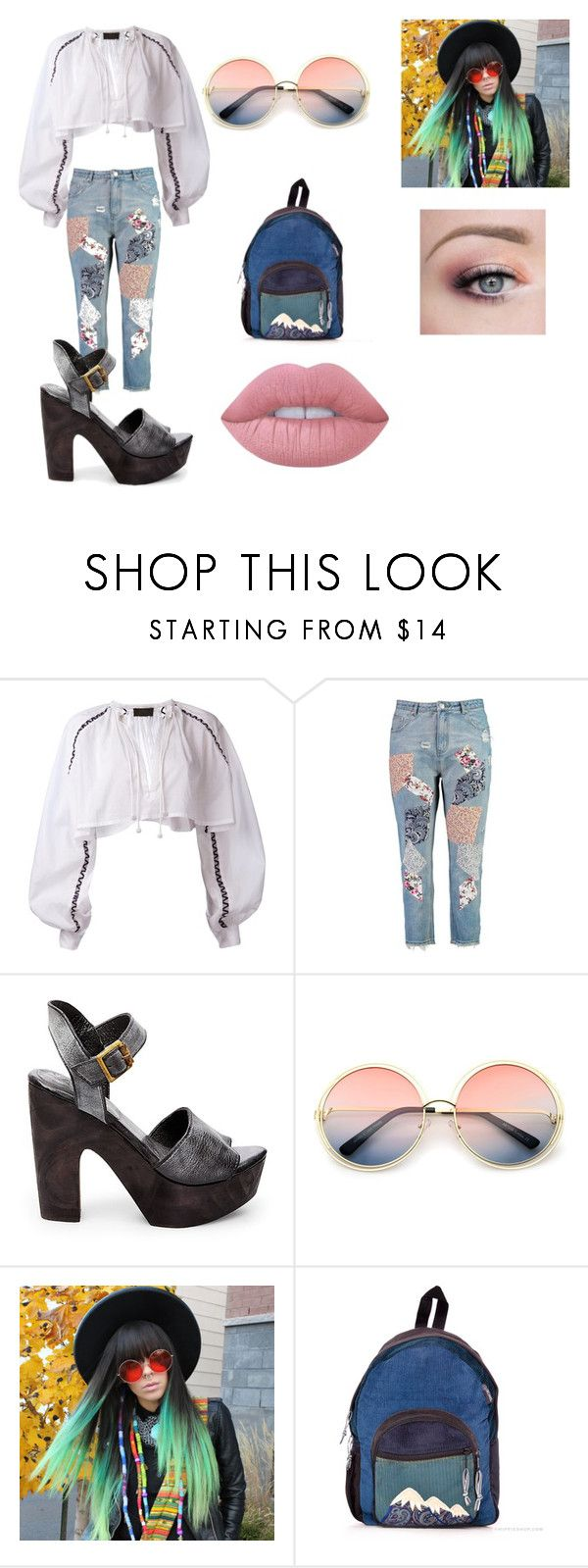 """""""Sin título #405"""" by girlblack25 on Polyvore featuring moda, MICHEL KLEIN, Boohoo, Steve Madden, ZeroUV y Lime Crime"""