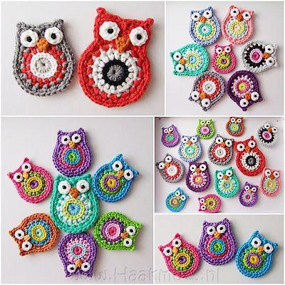Crochet owls :: perfect little winter nightly project... if I ever get