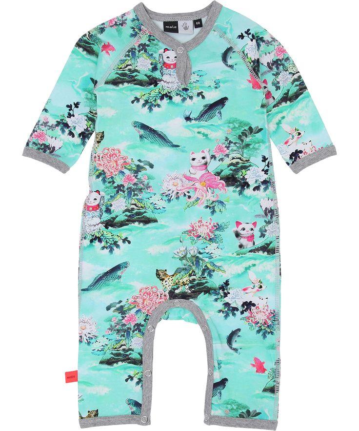 Molo fun cat printed babysuit. molo.en.emilea.be