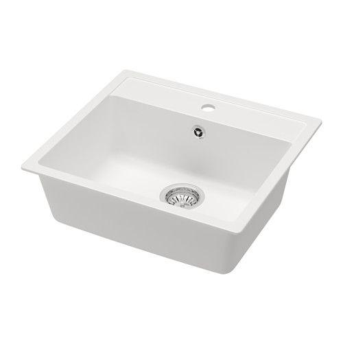 HÄLLVIKEN Indbygningsvask 1 IKEA 25 års garanti. Læs betingelserne i garantifolderen. Har forboret hul til blandingsbatteri.