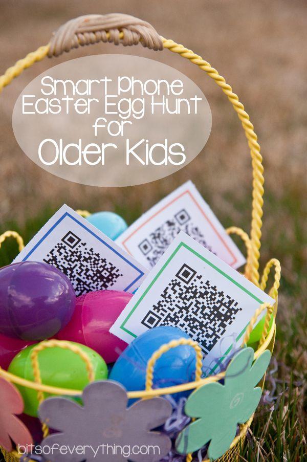 Last Minute Easter Fun Ideas | Smart phone Easter Egg hunt for older kids