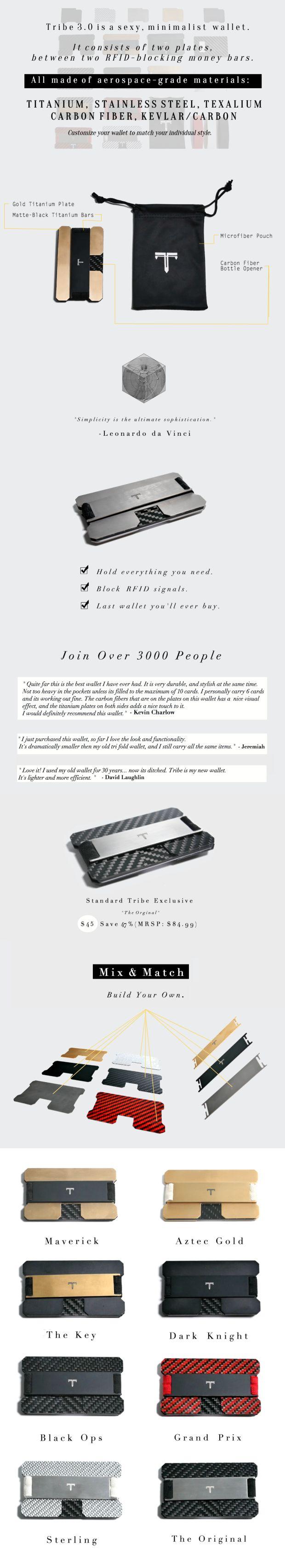 World's Best RFID Blocking Wallet. Designed for the future with Titanium, Carbon Fiber, and Kevlar. | Crowdfunding es una manera democrática de apoyar las necesidades de recaudación de fondos de tu comunidad. Haz una contribución hoy.