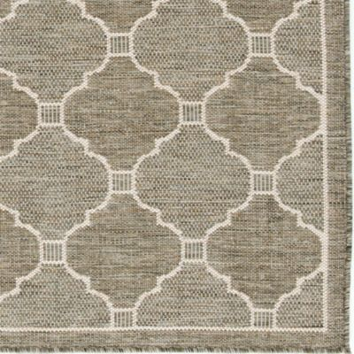 Geneve Indoor/Outdoor Rug   Silver   Ballard Designs   $179 (8x10)