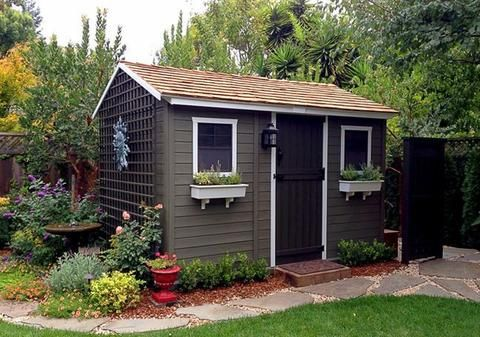 Outdoor Living Today - CB128 - 12 x 8 Cabana Shed with ... on Outdoor Living Today Cabana id=71282