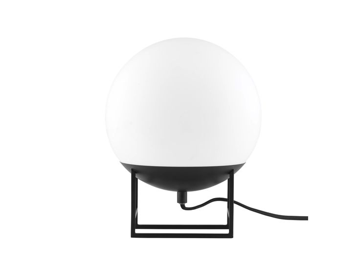 Trend The O light table lamp features a spherical shade resting on an angular stand u