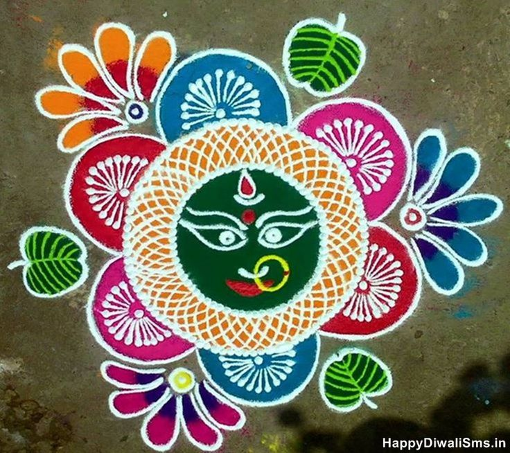Best Rangoli Designs for Navratri & Dussehra 2015