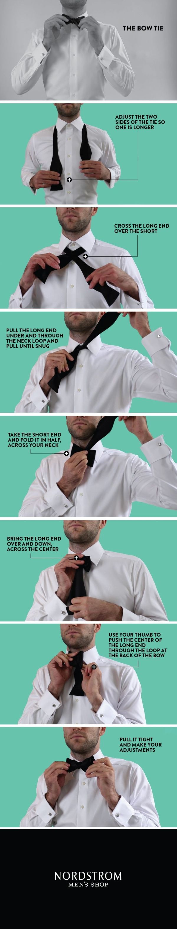 50 best tie knots images on pinterest necktie knots menswear how to tie a bow tie infographic ccuart Images