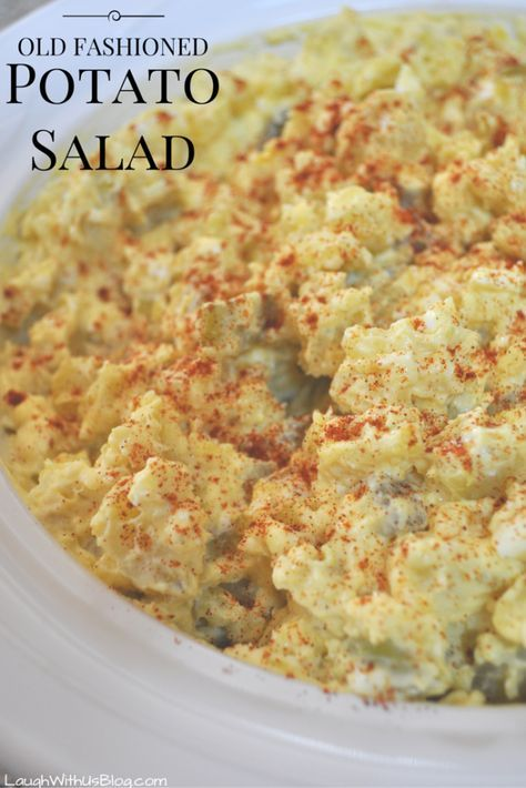 I love homemade potato salad! It's one of our Easter meal must have side dishes. Where as Jason's grandma Doodle would usually purchase the potato salad for Easter, I always make it from scratch just like my mom made it.